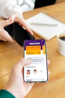 モバイル決済アプリケーションのモックアップの構成