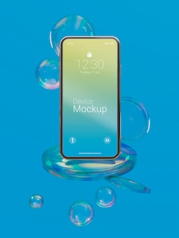 抽象液体を使用したモックアップデバイスの構成