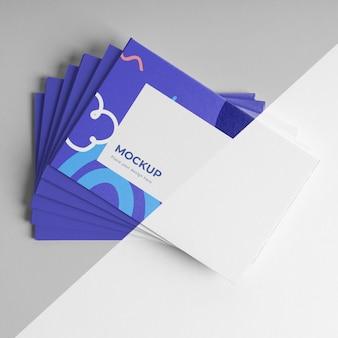 Композиция из макета визитной карточки