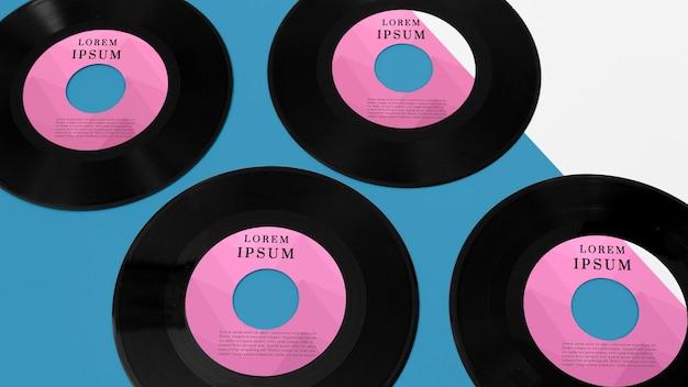 ビニールレコードのモックアップの構成
