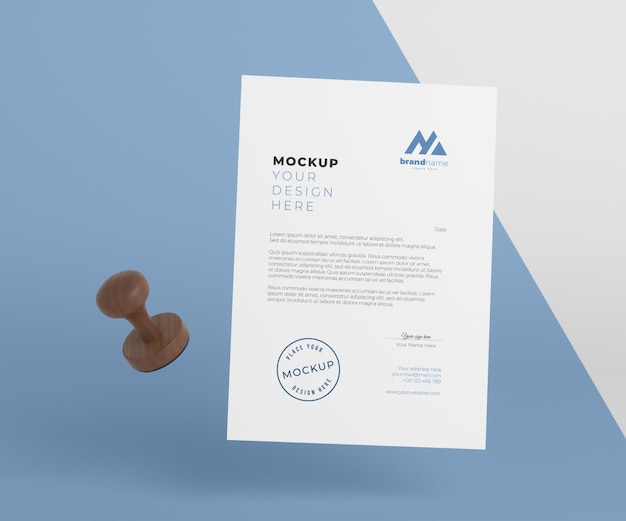 Composition of paper and seal mock-up