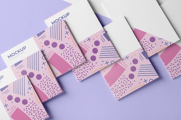 Composition of pattern visiting card mock-up