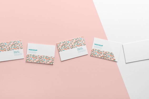 Composition of pattern visiting card