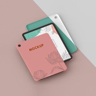 Composizione del mock-up della custodia per tablet