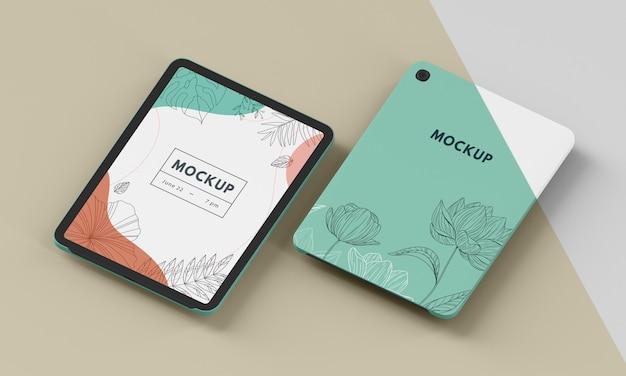 Composition of tablet case mock-up