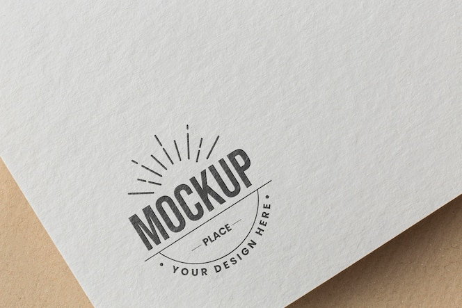 Composition with company branding card mock-up