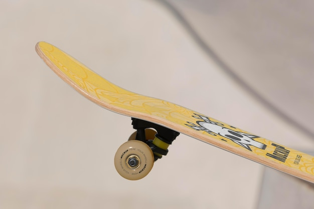 Composition with mock-up skateboard