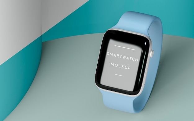 Composition with modern smartwatch mock-up