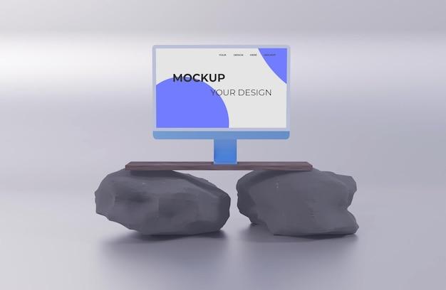 Компьютер чистый мокап