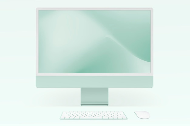 컴퓨터 바탕 화면 이랑 psd 녹색 디지털 장치 최소한의 스타일