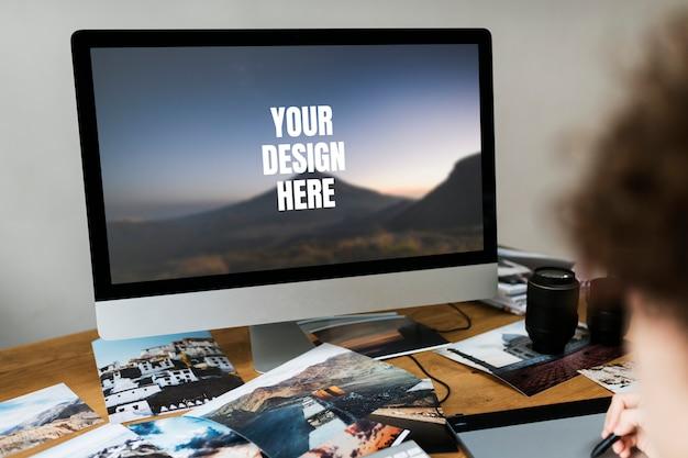 Computer desktop screen