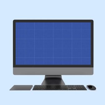 コンピューターのフロントモックアップ