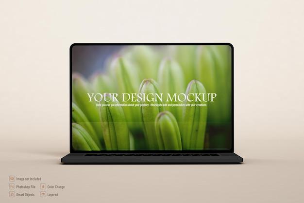 Computer mockup isolated design