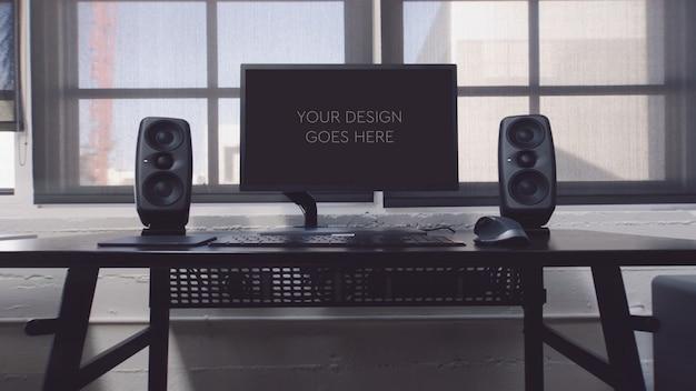 Дисплей монитора компьютера