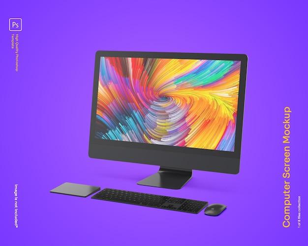 Computer monitor mockup