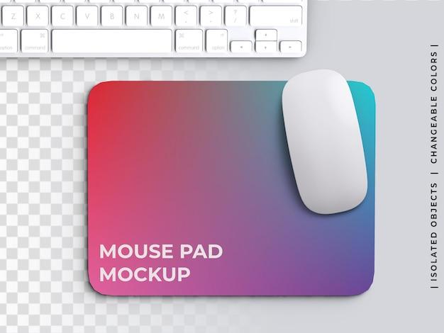 Компьютерный коврик для мыши шаблон дизайна макет с изолированной клавиатурой
