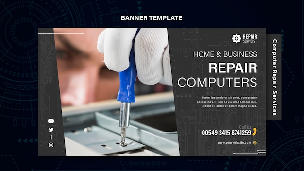 Computer and phones repair services banner