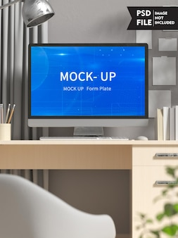 Computer screen concept mockup