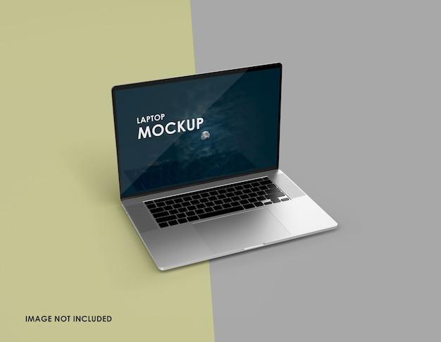 分離されたコンピューター画面のモックアップデザイン
