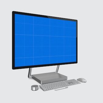 コンピューター画面のモックアップ