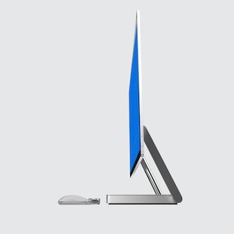 Computer screen mockup