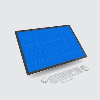 컴퓨터 화면 모형