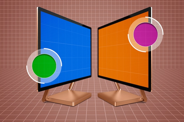 Computer zoom mockup