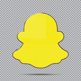 Концепция 3d значок snapchat