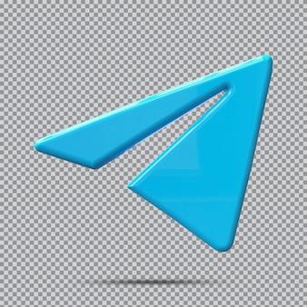 Концепция 3d значок telegram