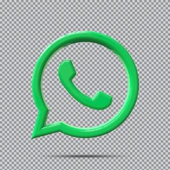 Концепция 3d значок whatsapp