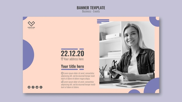 Concept for business event template