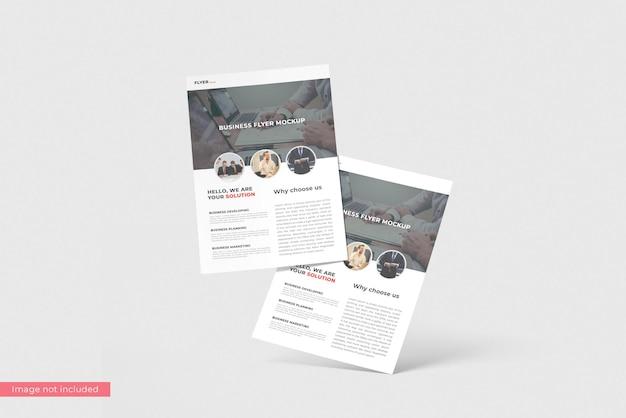 Concept of business flyer mockup design