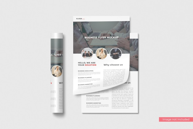 Concept of business flyer mockup design