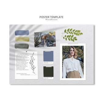 Concept of moodboard for poster template