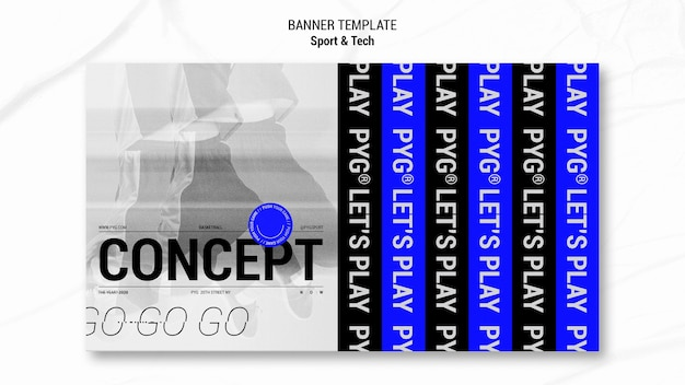 Concept of playing basket banner template