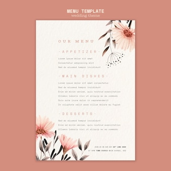 Concept for wedding poster template