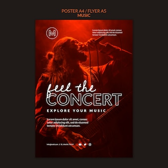 Концертный плакат шаблон