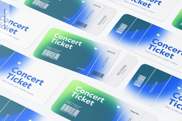 콘서트 티켓 목업