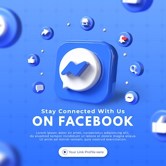 Conctact us business page promotion for facebook post mockup