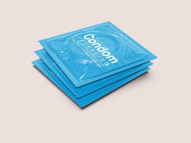 Макет упаковки презервативов