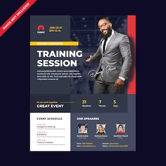 Conference flyer template