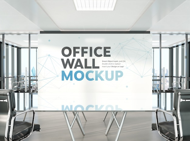 Conference room in modern office mockup