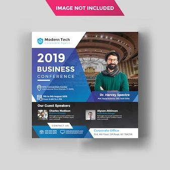 Conference social instagram banner template