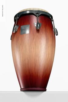 Конга барабан мокап, низкий угол обзора