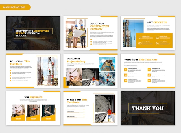 Constraction and architecture project overview presentation template