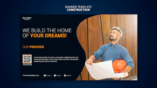 Construction banner template