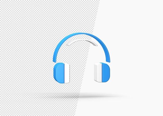 建設聴覚保護分離3dアイコン