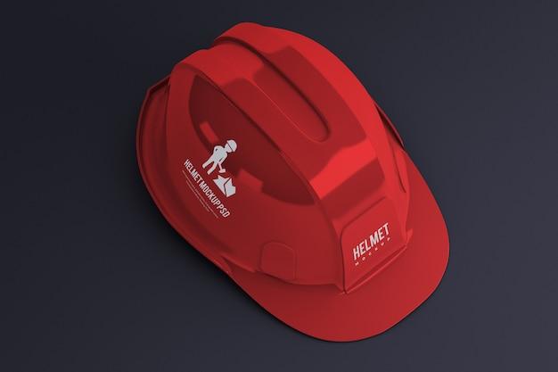 Construction helmet mockup isolated