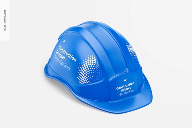 建設用ヘルメットのモックアップ、等角投影の右側面図