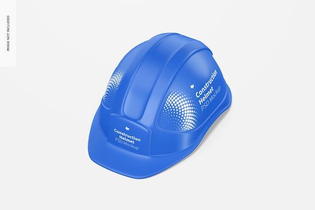 Мокап строительного шлема, вид в перспективе